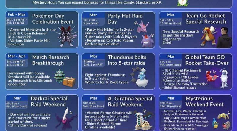 Sự Kiện Pokemon Go Tháng 3/2020